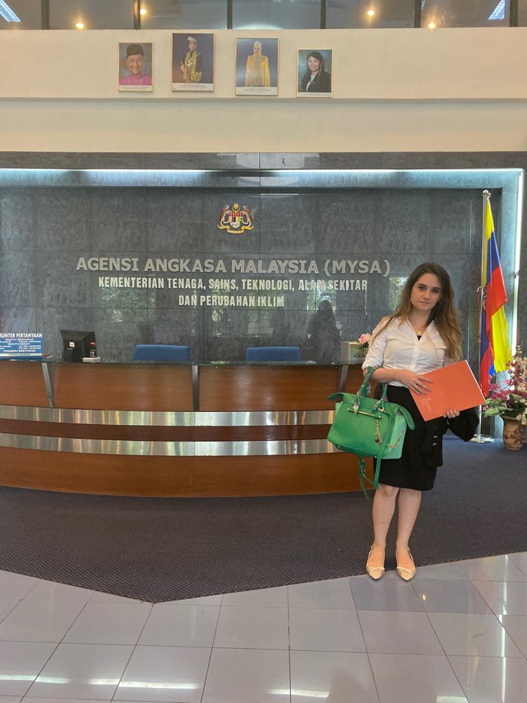 A picture of me at the reception area of Malaysian space agency building where the precision medicine event held.