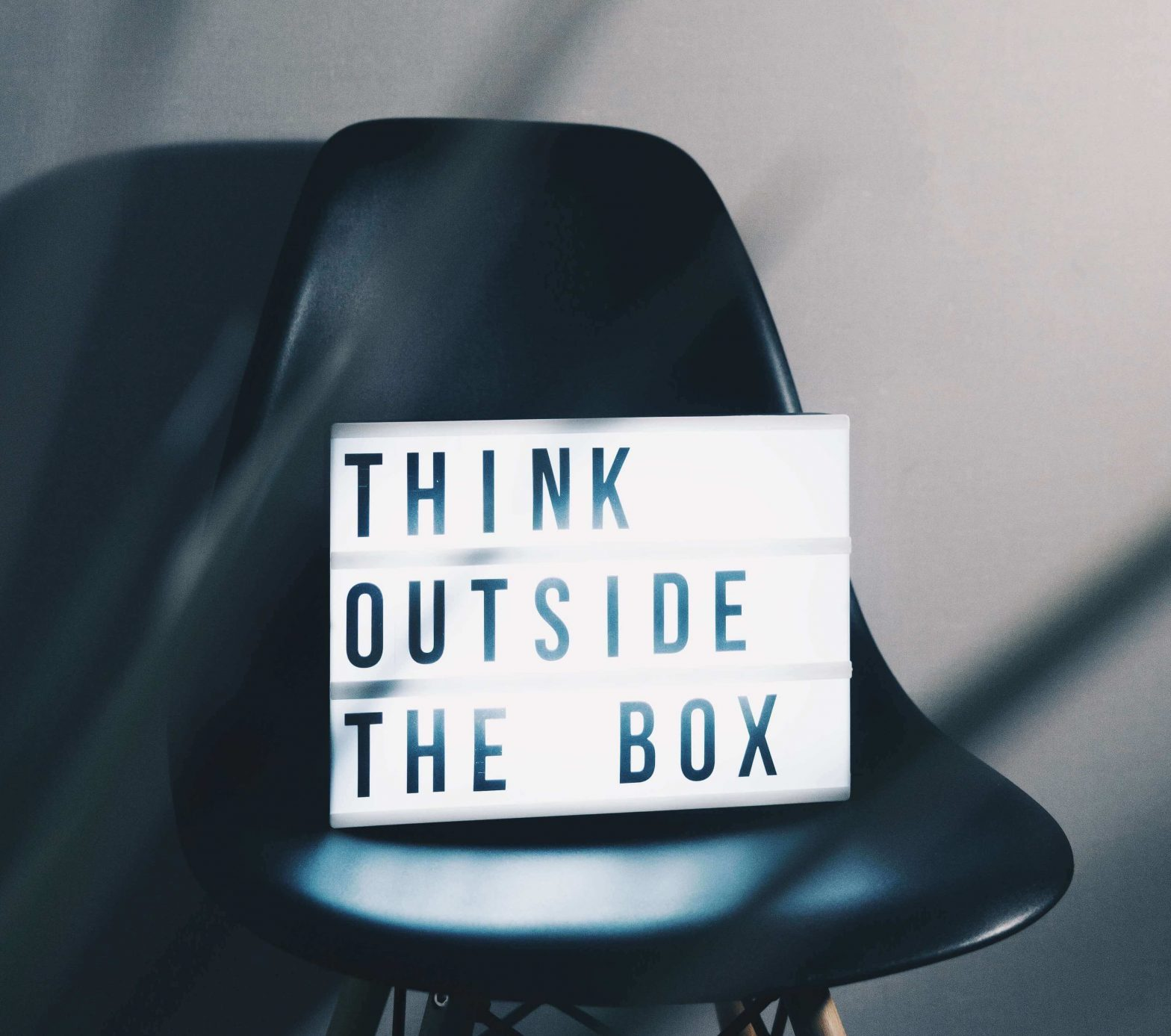 Thinking outside the box, or divergent thinking, allows for a creative mind.