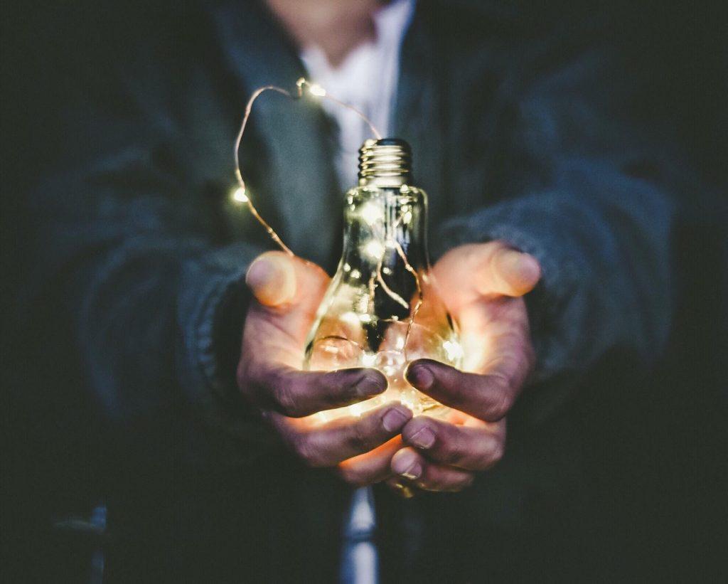 lightbulb ideation nurture eureka moment